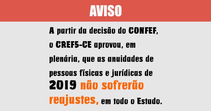 Aviso Anuidades 2019