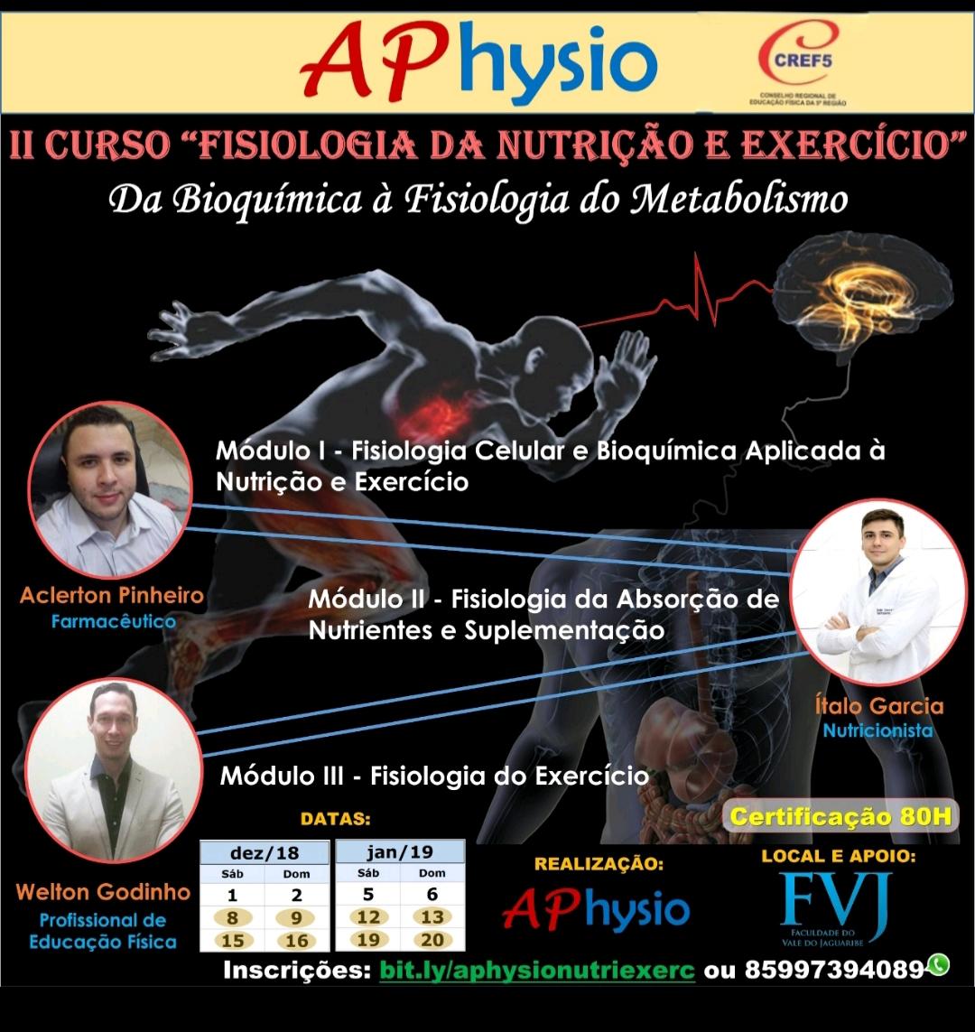 II Curso Fisiologia da Nutrição e Exercício