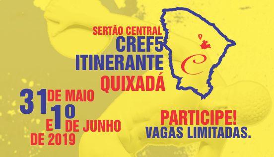 """Nos próximos dias 31 de maio e 01 de Junho, o Conselho Regional de Educação Física da 5ª Região (CREF5 -CE) chega a Quixadá para atender os profissionais e estudantes de sete municípios do Sertão do Ceará. No Centro Universitário Católica de Quixadá-(UNICATÓLICA), no Centro de Quixadá, o """"CREF Itinerante"""" oferecerá serviços administrativos, assessoria jurídica, […]"""