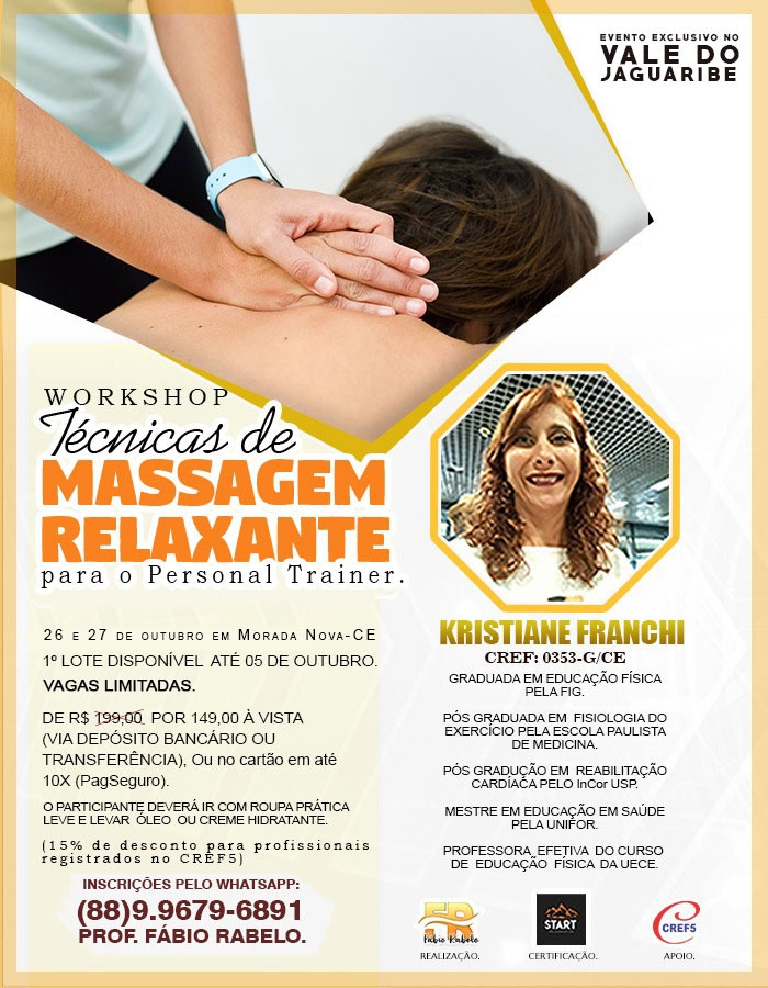 WORKSHOP: Técnicas de Massagem Relaxante