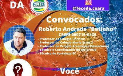 """BATE BOLA DA FECEDE: COM ROBERTO ANDRADE """"BETINHO"""""""