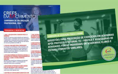 CREF5 LANÇA MATERIAL PARA AUXILIAR PROFISSIONAIS NA RETOMADA DOS TREINOS