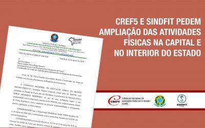 CREF5 E SINDFIT PEDEM AMPLIAÇÃO DAS ATIVIDADES FÍSICAS NA CAPITAL E NO INTERIOR DO ESTADO