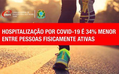 Estudo aponta menos hospitalização por COVID-19 de pessoas fisicamente ativas