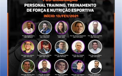 Curso de Pós-graduação 100% online: PERSONAL TRAINING, TREINAMENTO DE FORÇA E NUTRIÇÃO ESPORTIVA