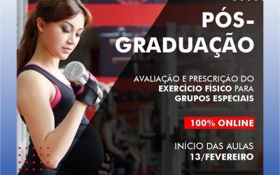 Curso de Pós-graduação 100% online: AVALIAÇÃO E PRESCRIÇÃO DO EXERCÍCIO FÍSICO PARA GRUPOS ESPECIAIS