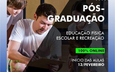 Curso de Pós-graduação 100% online: EDUCAÇÃO FÍSICA ESCOLAR E RECREAÇÃO.