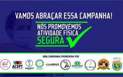 """CREF5 lança campanha """"Atividade Física Segura"""" no Estado do Ceará"""