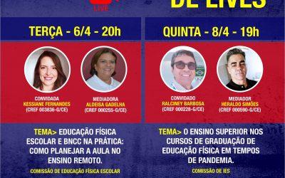 AGENDA DE LIVES DO CONEXÃO CREF5