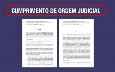 CUMPRIMENTO DE ORDEM JUDICIAL POR PARTE DO CREF5