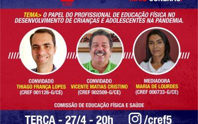 C̶O̶N̶E̶X̶Ã̶O̶ ̶C̶R̶E̶F̶5̶: O PAPEL DO PROFISSIONAL DE EDUCAÇÃO FÍSICA NO DESENVOLVIMENTO DE CRIANÇAS E ADOLESCENTES NA PANDEMIA