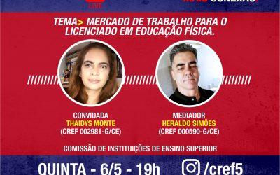 C̶O̶N̶E̶X̶Ã̶O̶ ̶C̶R̶E̶F̶5̶: MERCADO DE TRABALHO PARA O LICENCIADO EM EDUCAÇÃO FÍSICA