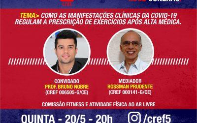 C̶O̶N̶E̶X̶Ã̶O̶ ̶C̶R̶E̶F̶5̶: COMO AS MANIFESTAÇÕES CLÍNICAS DA COVID 19 REGULAM A PRESCRIÇÃO DE EXERCÍCIOS APÓS ALTA MÉDICA.